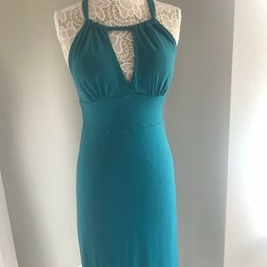 Cocktail dress by Arden B teal color